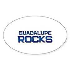 guadalupe rocks Oval Decal
