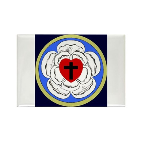 Luther Rose Rectangle Magnet