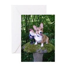 The Enchanted Corgi Greeting Card