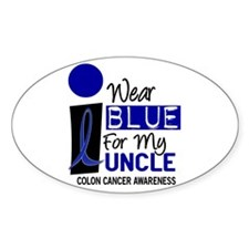 I Wear Blue For My Uncle 9 CC Oval Decal