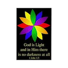 God is Light Rectangle Magnet