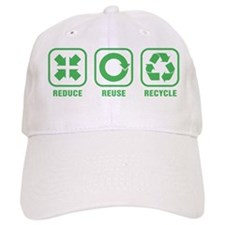 Reduce Reuse Recycle Baseball Cap