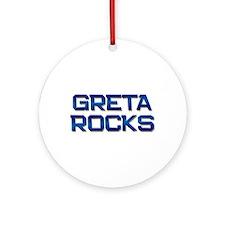 greta rocks Ornament (Round)