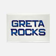 greta rocks Rectangle Magnet