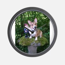 The Enchanted Corgi Wall Clock