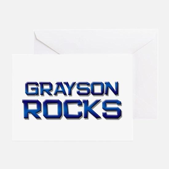 grayson rocks Greeting Card