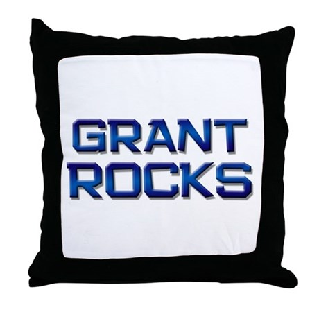 grant rocks Throw Pillow