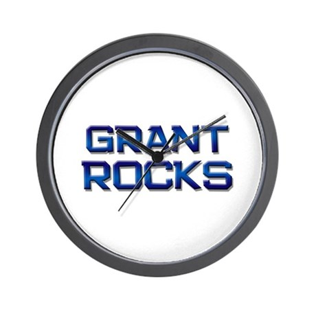 grant rocks Wall Clock