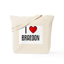 I LOVE BRAEDON Tote Bag