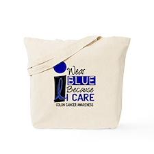 I Wear Blue Because I Care 9 CC Tote Bag