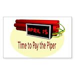 Tax Day Rectangle Sticker 10 pk)
