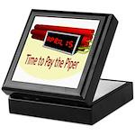 Tax Day Keepsake Box