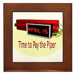 Tax Day Framed Tile