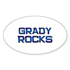 grady rocks Oval Decal