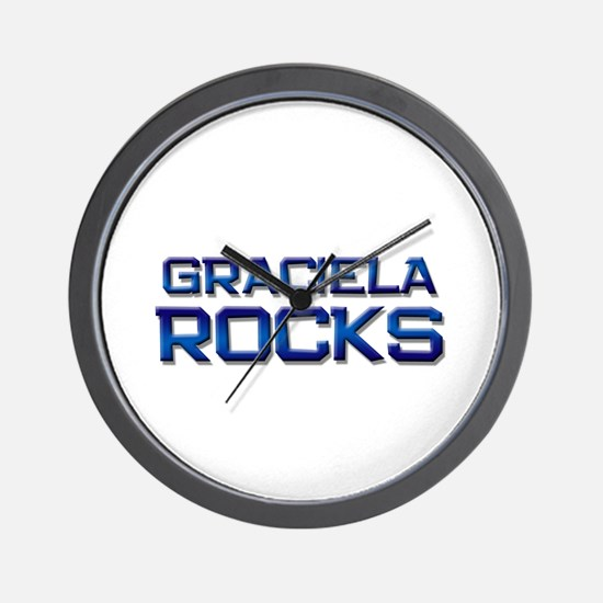 graciela rocks Wall Clock