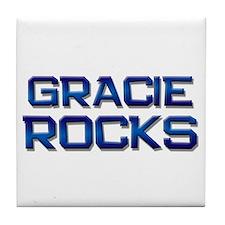 gracie rocks Tile Coaster