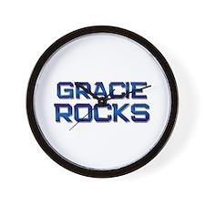 gracie rocks Wall Clock