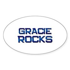 gracie rocks Oval Decal