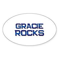 gracie rocks Oval Stickers