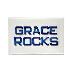 grace rocks Rectangle Magnet