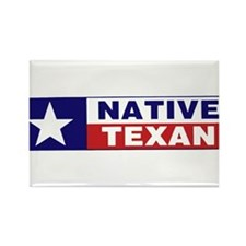 Native Texan Rectangle Magnet
