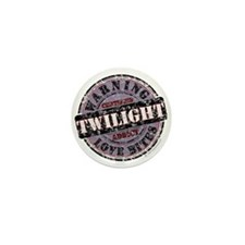 Caution Twilight Addict Mini Button