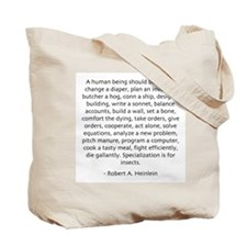 Patriots Tote Bag with Heinlein Quote-Sold at COST