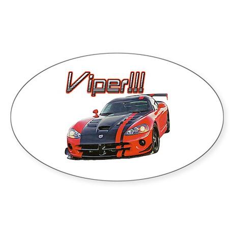 """""""Dodge Viper"""" Oval Sticker (50 pk)"""