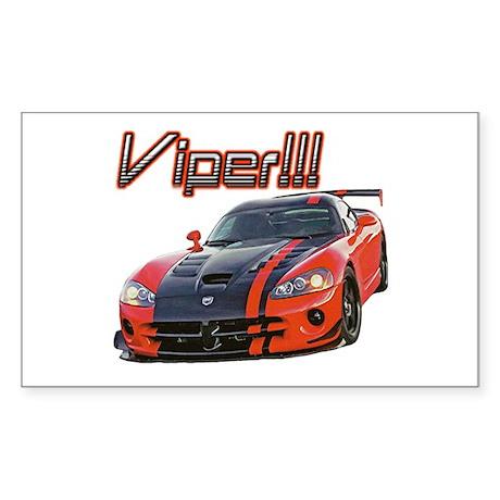 """""""Dodge Viper"""" Rectangle Sticker"""