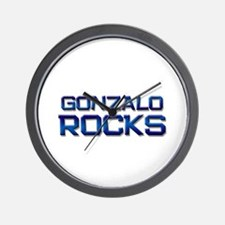 gonzalo rocks Wall Clock