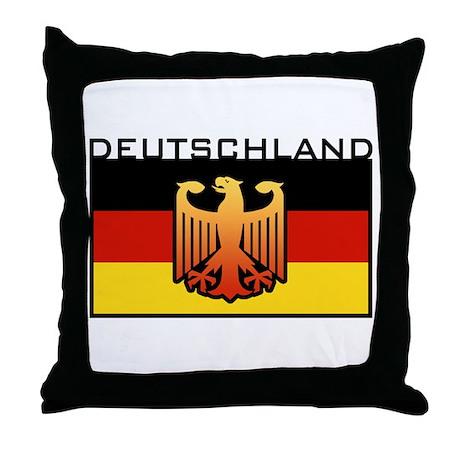 Deutschland Flag Throw Pillow