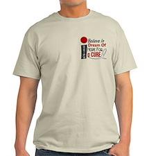 BELIEVE DREAM HOPE Bone Cancer T-Shirt