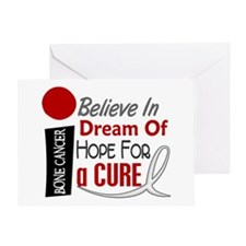 BELIEVE DREAM HOPE Bone Cancer Greeting Card