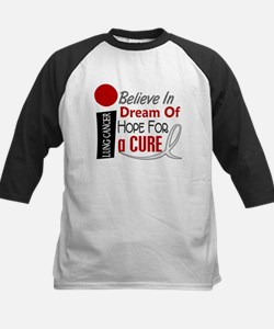 BELIEVE DREAM HOPE Lung Cancer Kids Baseball Jerse