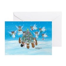 Angels We Have 'Herd' On High Greeting Cards (Pack