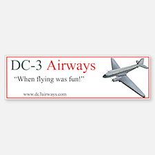 DC-3 Airways Bumper Bumper Bumper Sticker