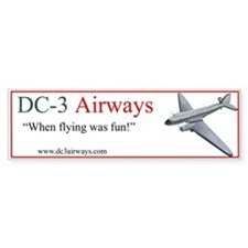 DC-3 Airways Bumper Bumper Sticker