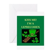 jewish st. patrick's day Greeting Card