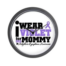 I Wear Violet For Mommy Wall Clock