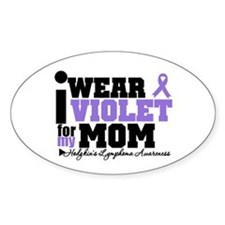 I Wear Violet For My Mom Oval Decal