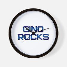 gino rocks Wall Clock