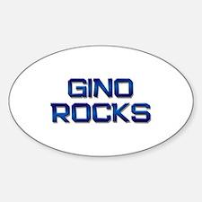 gino rocks Oval Decal