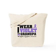 I Wear Violet For Grandpa Tote Bag