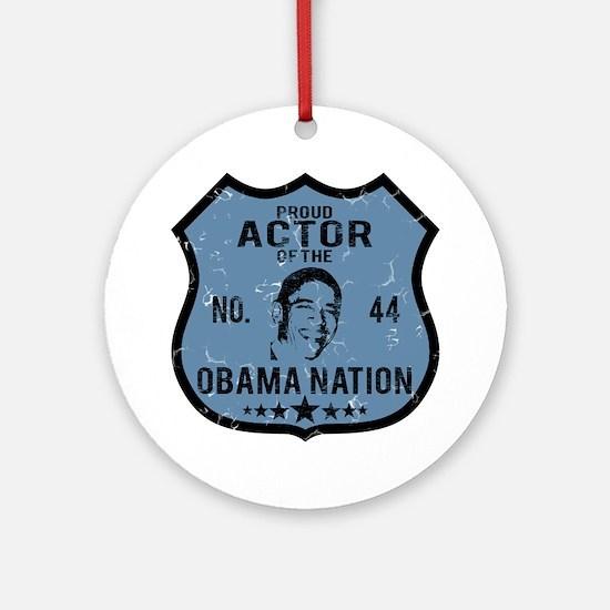 Actor Obama Nation Ornament (Round)