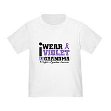 I Wear Violet For Grandpa T