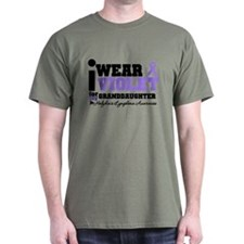I Wear Violet Granddaughter T-Shirt