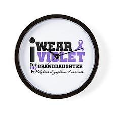 I Wear Violet Granddaughter Wall Clock