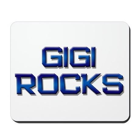 gigi rocks Mousepad