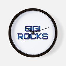 gigi rocks Wall Clock