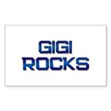 gigi rocks Rectangle Decal